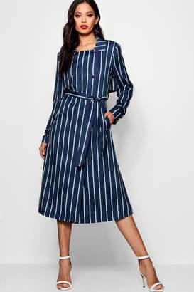 boohoo Zendaya Edit Stripe Trench Coat