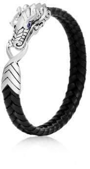 John Hardy Sterling Silver Leather Legends Bracelet