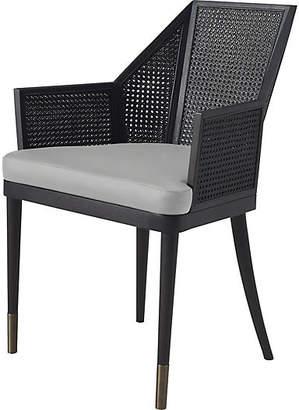 Kara Mann for Milling Road Cane Armchair - Light Gray