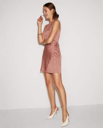 Express Stripe Faux Wrap Skirt Sheath Dress