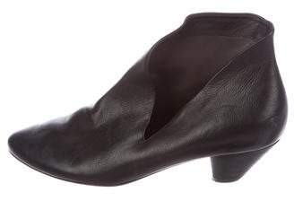 Marsèll Leather Round-Toe Ankle Boots