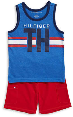 Tommy Hilfiger Graphic Tank Top and Shorts Set