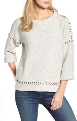 Lucky Brand Contrast Stitch Sweater