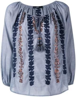 Steffen Schraut embroidered sequin blouse