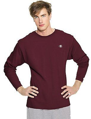 Champion Cotton Jersey Long-Sleeve Men's T Shirt