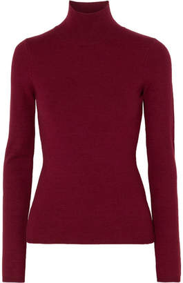 Victoria Beckham Knitted Turtleneck Sweater - Burgundy