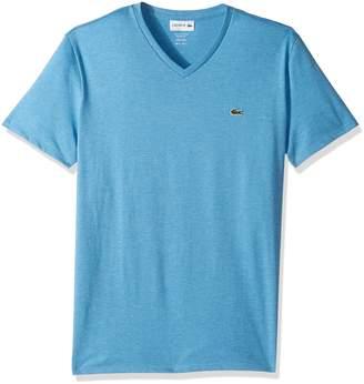 Lacoste Men's Short Sleeve V-Neck Pima Jersey T-Shirt