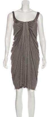 Versace Ruched Knee-Length Dress w/ Tags