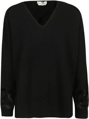 Fendi Trimmed V-neck Sweater
