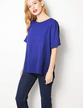 Marks and Spencer PETITE Short Sleeve Blouse