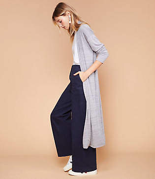 Lou & Grey Softened Jersey Maxi Cardigan