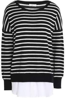 Joie (ジョア) - Joie Striped Wool And Cashmere-Blend Sweater