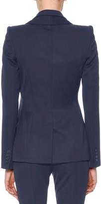 Alexander McQueen Double-Collar Single-Breasted Grain de Poudre Classic Jacket