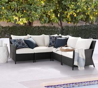 Pottery Barn Patio Square Arm Occasional Chair Cushion Slipcovers