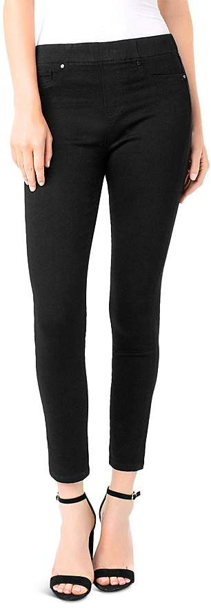 Liverpool Chloe Legging Ankle Jeans in Black Rinse