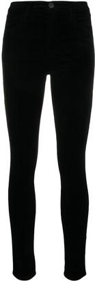 J Brand 815 velvet skinny denim jeans