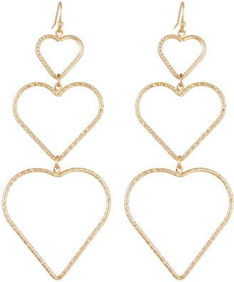 Fragments for Neiman Marcus Linear Heart Drop Earrings