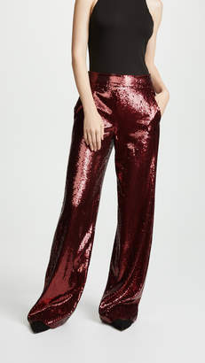 Prabal Gurung Wide Leg Sequin Pants
