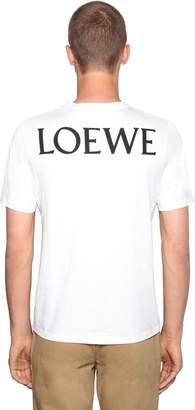 Loewe Printed Totem Cotton Jersey T-Shirt