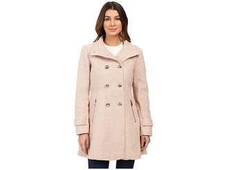 Jessica Simpson Military Double Breasted Braided Wool Women's Coat