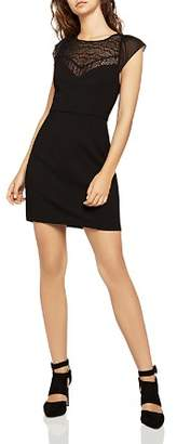 BCBGeneration Lace-Inset Sheath Dress