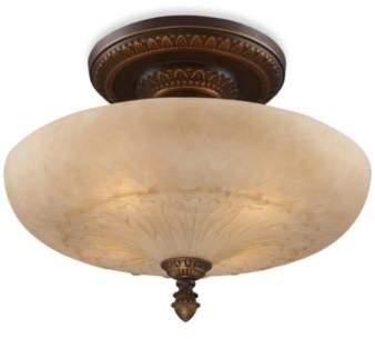 Elk Lighting ELK Lighting Restoration 4-Light Semi-Flush Fixture in Golden Bronze