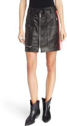 Etoile Isabel Marant Alynne Side Stripe Leather Miniskirt