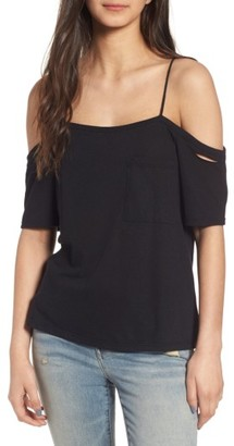 Women's Treasure&bond Distressed Off The Shoulder Top $49 thestylecure.com