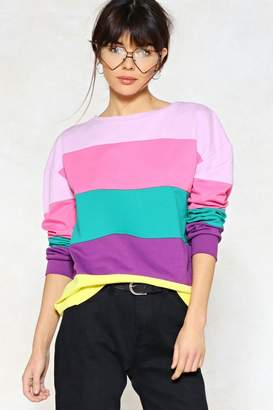 Nasty Gal Stripe Around the Corner Sweater