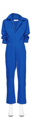A-Plan-Application Blue Directoire Jumpsuit
