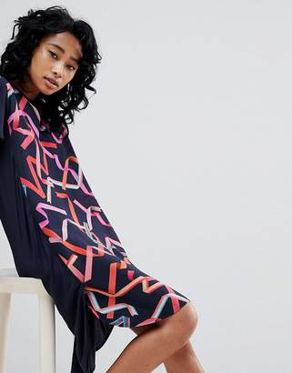 Paul Smith Ps Ps By Silk And Jersey Dress