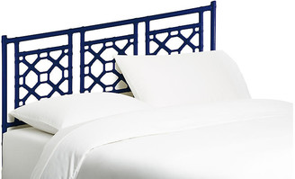 David Francis Furniture Lattice Headboard - Navy
