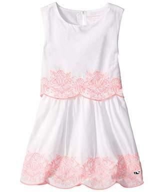 Vineyard Vines Kids Embroidered Tiered Shift Dress (Toddler/Little Kids/Big Kids)