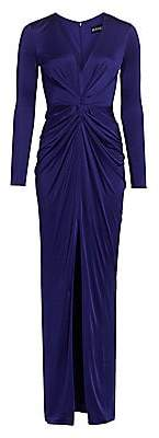 HANEY Women's Ruched Jersey Cutout Gown