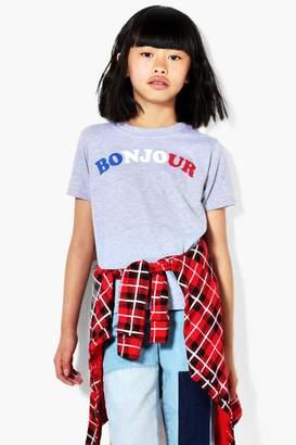boohoo Girls Bonjour Tee