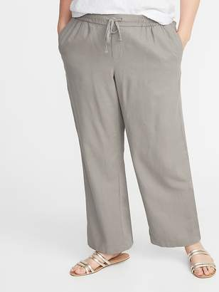 2c97ef3967759 Old Navy Plus-Size Wide-Leg Linen-Blend Pants