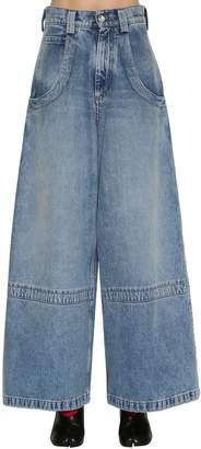 Maison Margiela Wide Leg Washed Denim Jeans