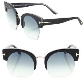 Tom Ford Eyewear Savannah 55MM Cropped Cat Eye Sunglasses $445 thestylecure.com