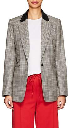 Rag & Bone Women's Ridley Plaid Wool-Cotton One-Button Blazer