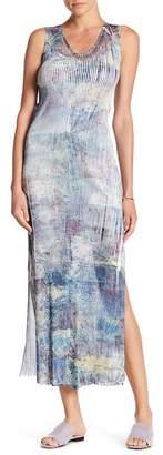 KOMAROV High Slit Print Maxi Dress $184 thestylecure.com