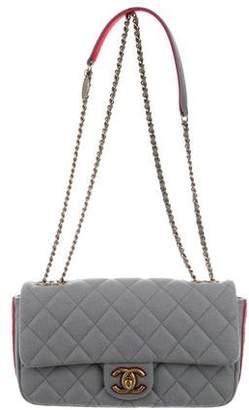 Chanel Paris-Salzburg Medallion Felt Flap Bag