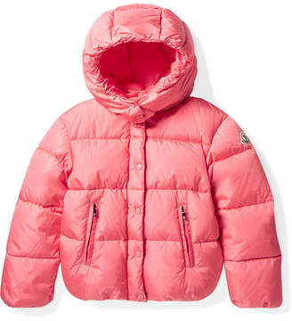 Moncler Ages 8 - 10 Caille Hooded Quilted Shell Down Jacket