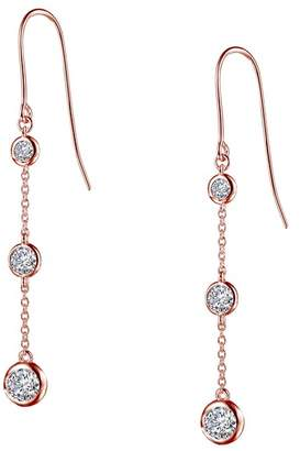 Lafonn Rose Gold Over Sterling Silver Simulated Diamond Drop Earrings