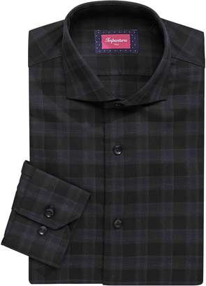 Linea In Slim Fit Plaid Button-Down Dress Shirt