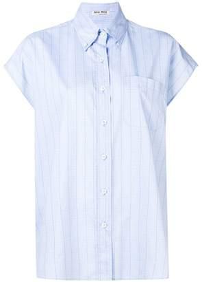 Miu Miu checked button-down shirt