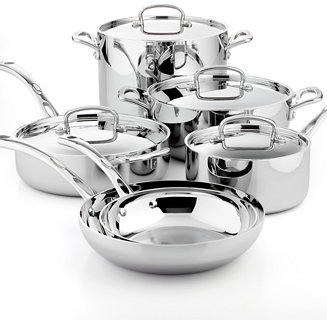 Cuisinart French Classic Tri-Ply Stainless Steel 10 Piece Cookware Set