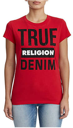 True Religion WOMENS DENIM GRAPHIC TEE