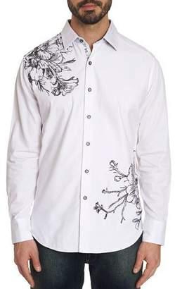 Robert Graham Men's Memento Graphic Long-Sleeve Sport Shirt