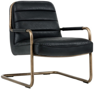Sunpan Lincoln Rustic Bronze Lounge Chair