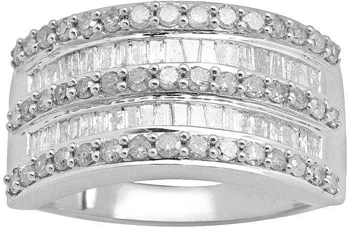 10k White Gold 1-Ct. T.w. Diamond Channel-Set Ring